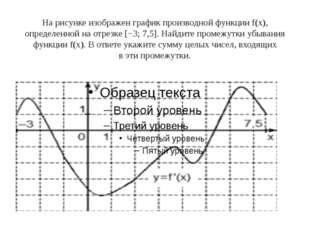 Нарисунке изображен график производной функцииf(x), определенной наотрезке