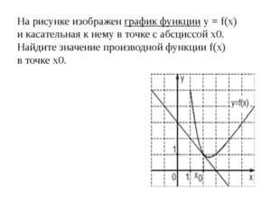 Нарисунке изображен график функцииy=f(x) икасательная кнему вточке са