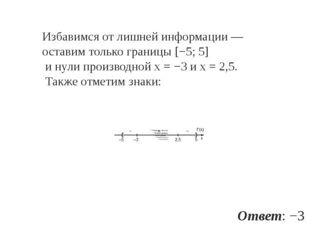 Избавимся отлишней информации— оставим только границы [−5;5] инули произв...