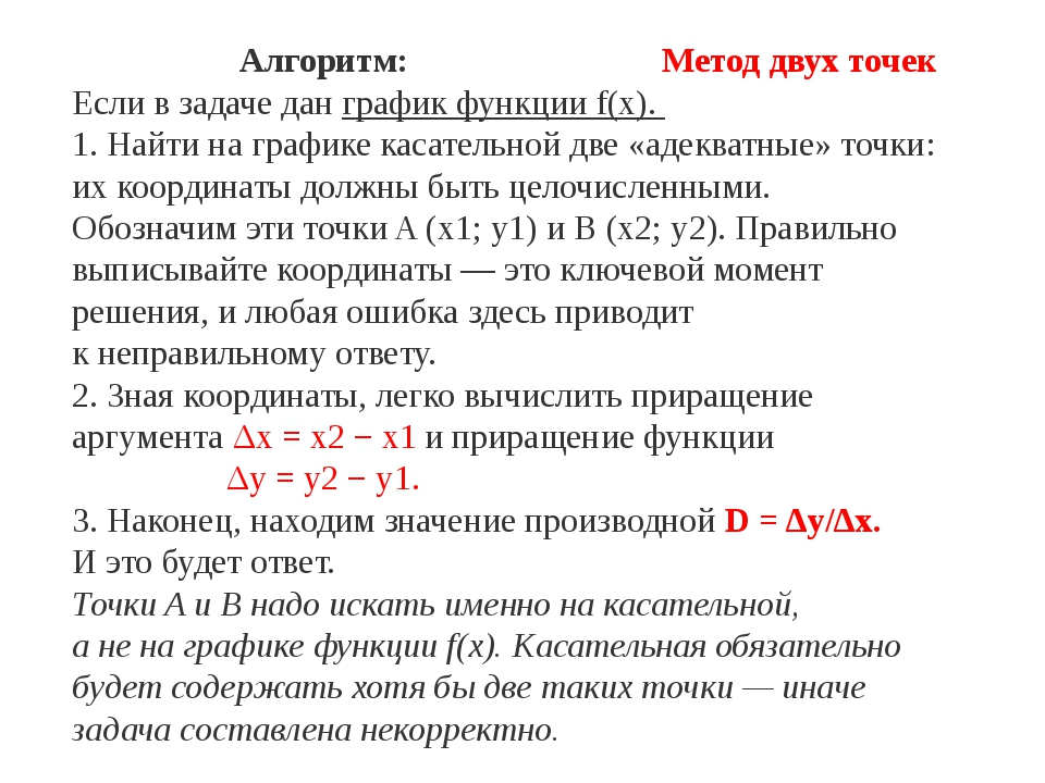 Алгоритм: Метод двух точек Если взадаче дан график функцииf(x). 1. Найти на...