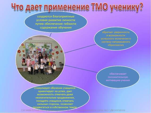 Силаева Елена Анатольевна, учитель высшей категории МБОУ СОШ №2 г.Десногорска