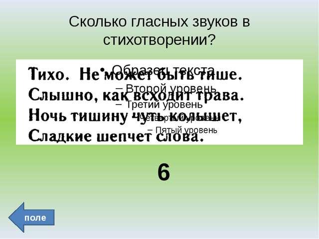 3 _ _ _ поле