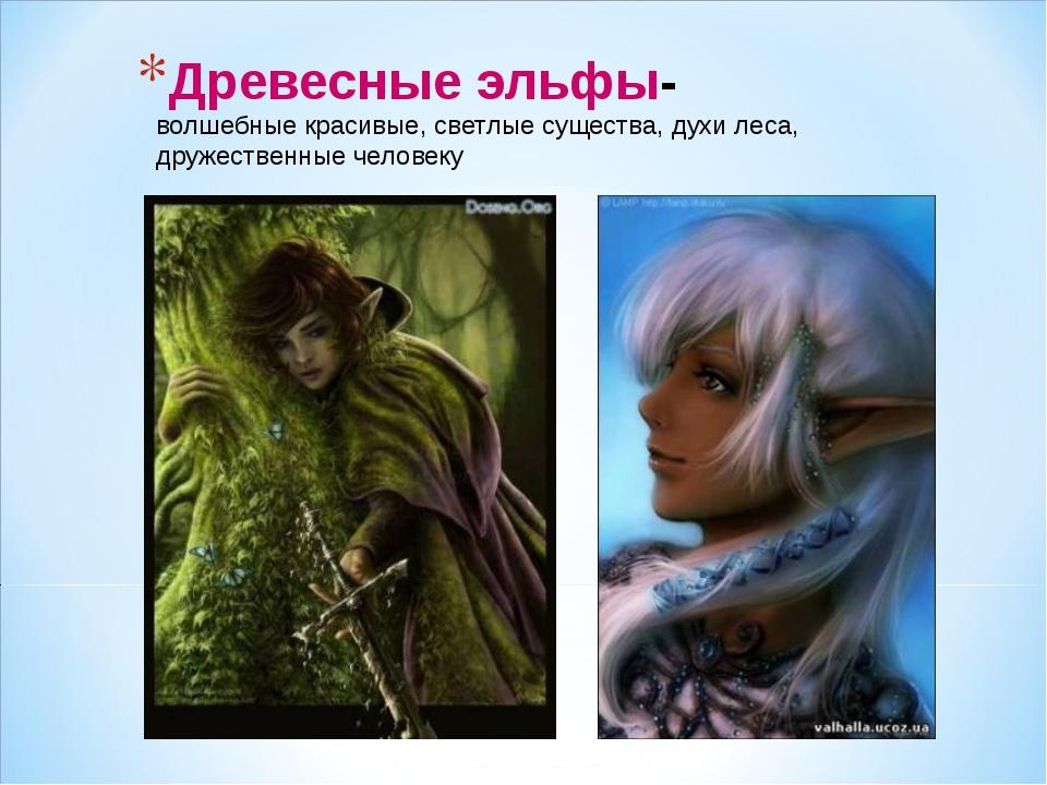 Древесные эльфы- волшебныекрасивые, светлые существа, духи леса, дружественн...