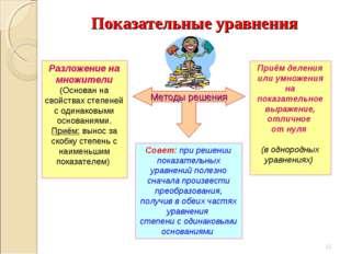 Разложение на множители (Основан на свойствах степеней с одинаковыми основани