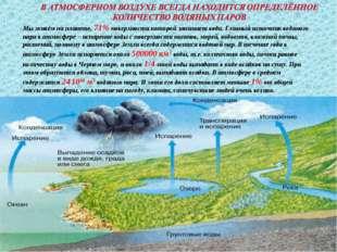* Мы живём на планете, 71% поверхности которой занимает вода. Главный источни
