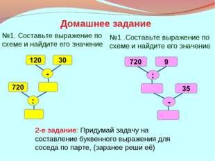 №1. Составьте выражение по схеме и найдите его значение №1 .Составьте выражен