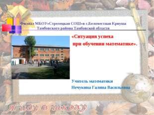 Филиал МБОУ»Стрелецкая СОШ»в с.Беломестная Криуша Тамбовского района Тамбовск