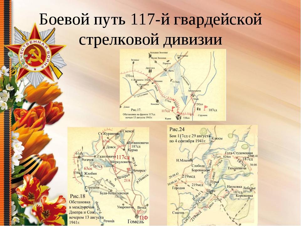 Боевой путь 117-й гвардейской стрелковой дивизии
