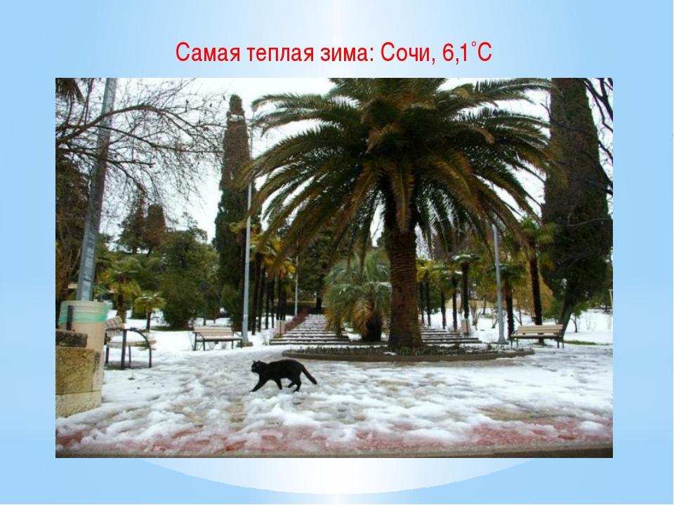 Самая теплая зима: Сочи, 6,1˚С