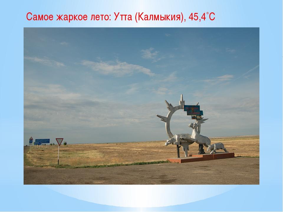 Самое жаркое лето: Утта (Калмыкия), 45,4˚С