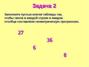 Заполните пустые клетки таблицы так, чтобы числа в каждой строке и каждом сто