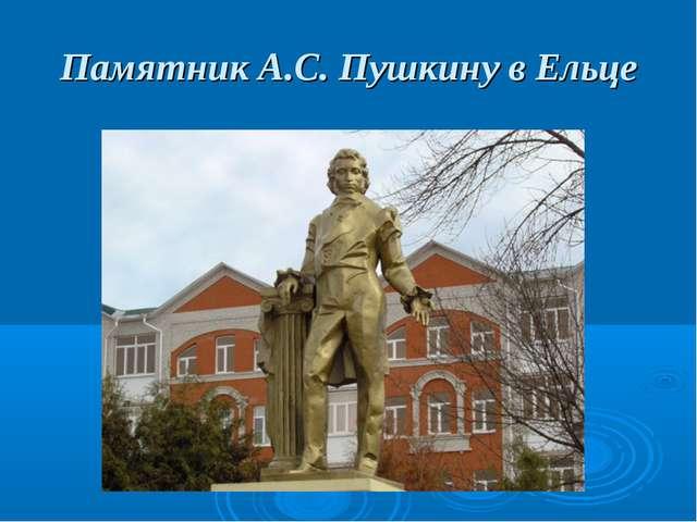 Памятник А.С. Пушкину в Ельце