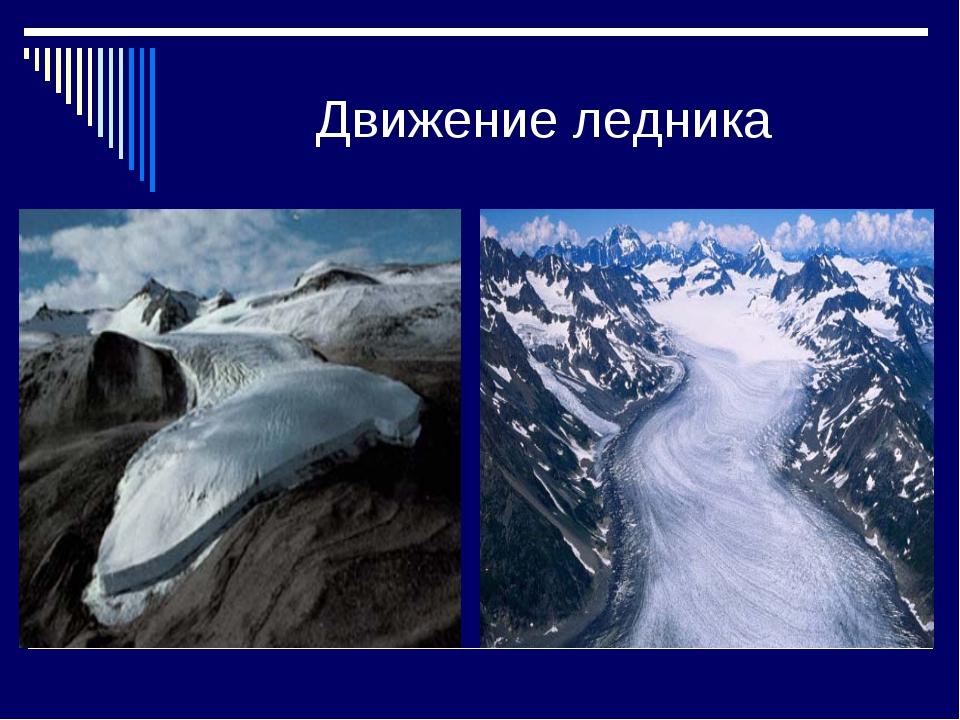 Движение ледника
