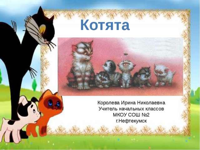 Котята Королева Ирина Николаевна Учитель начальных классов МКОУ СОШ №2 г.Нефт...