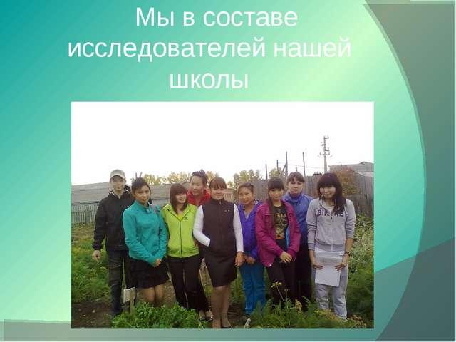 Мы в составе исследователей нашей школы