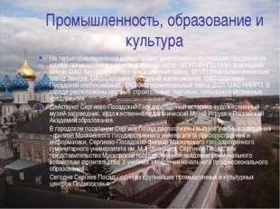 Промышленность, образование и культура На территории поселения осуществляют д