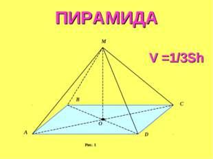 ПИРАМИДА V =1/3Sh