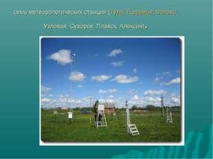 семь метеорологических станции (Тула,Ефремов,Волово, Узловая, Суворов, Плав