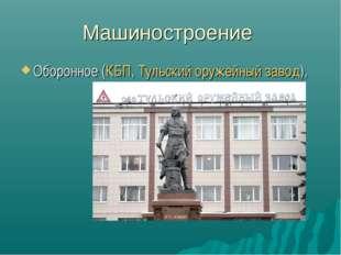 Машиностроение Оборонное (КБП,Тульский оружейный завод),