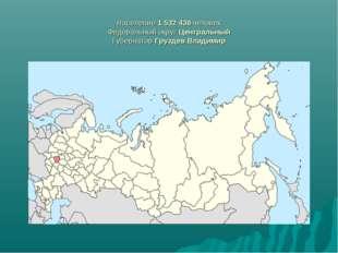 Население 1532436 человек Федеральный округ Центральный Губернатор Груздев