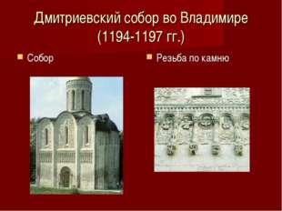 Дмитриевский собор во Владимире (1194-1197 гг.) Собор Резьба по камню