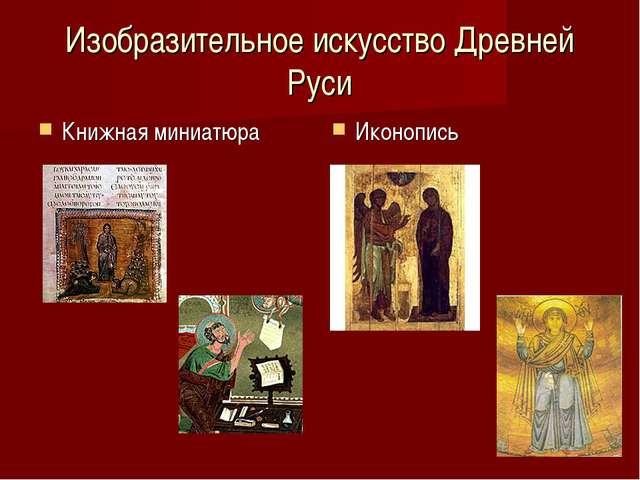 Изобразительное искусство Древней Руси Книжная миниатюра Иконопись