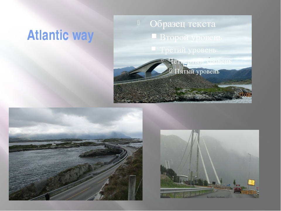 Atlantic way The road from Molde to Kristiansund is famous with numerous brid...