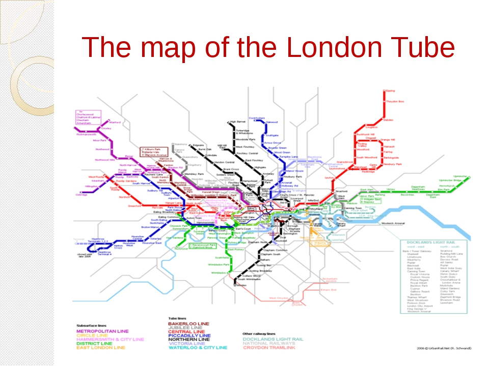 The map of the London Tube