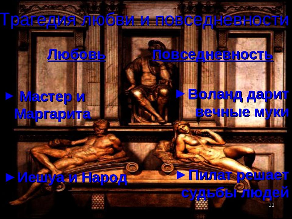* Трагедия любви и повседневности Любовь Мастер и Маргарита Иешуа и Народ Пов...