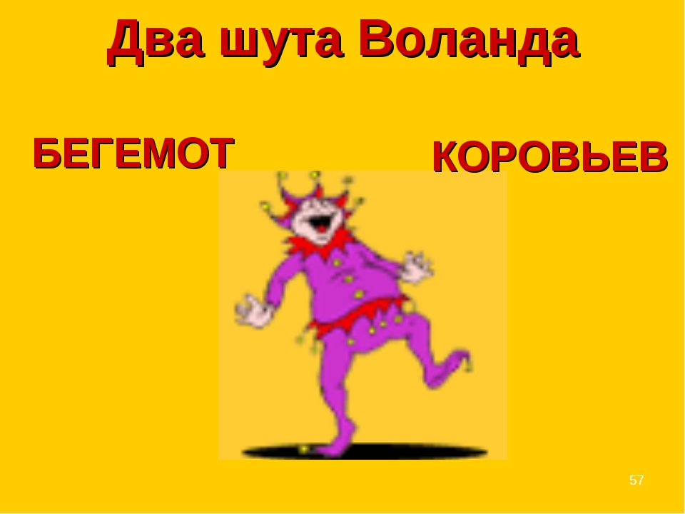 * КОРОВЬЕВ Два шута Воланда БЕГЕМОТ