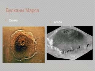 Вулканы Марса Олимп Альба
