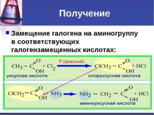 Получение Замещение галогена на аминогруппу в соответствующих галогензамещенн