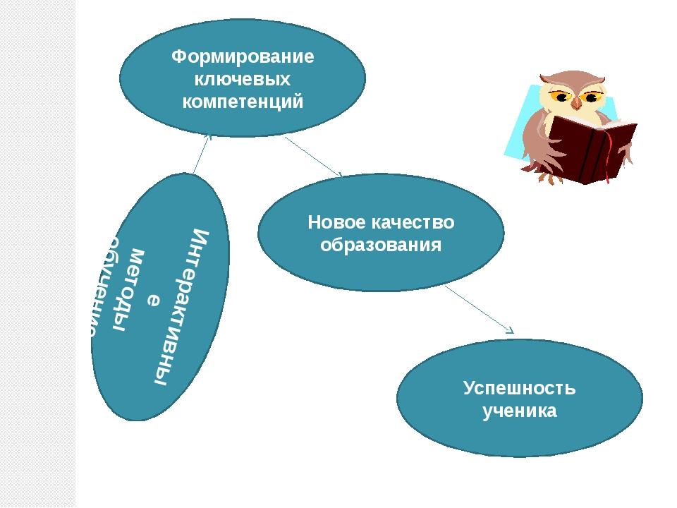Формирование ключевых компетенций Новое качество образования Успешность учени...