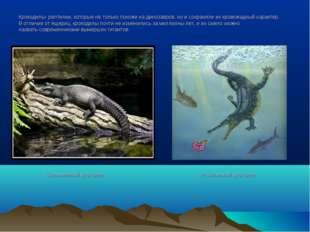 Крокодилы- рептилии, которые не только похожи на динозавров, но и сохранили и