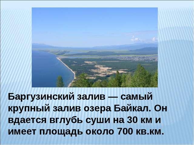 Баргузинский залив — самый крупный залив озера Байкал. Он вдается вглубь суши...