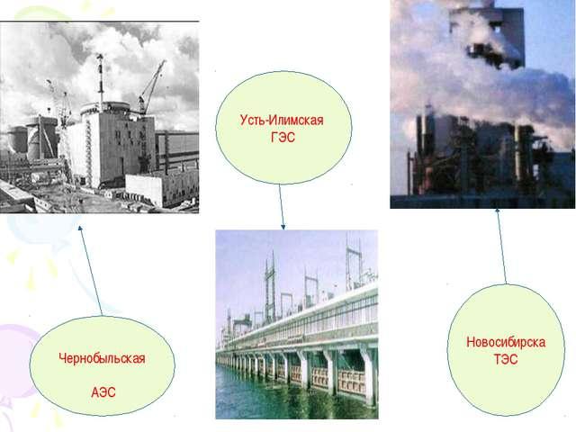 Чернобыльская АЭС Усть-Илимская ГЭС Новосибирска ТЭС