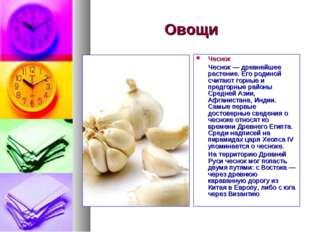 Овощи Чеснок Чеснок — древнейшее растение. Его родиной считают горные и предг