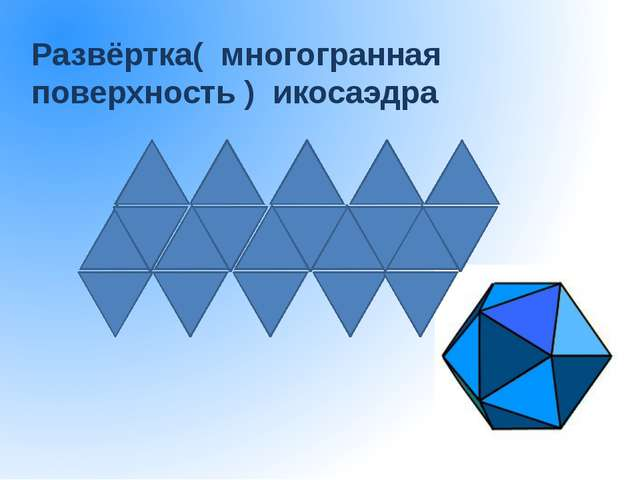 Развёртка( многогранная поверхность ) икосаэдра
