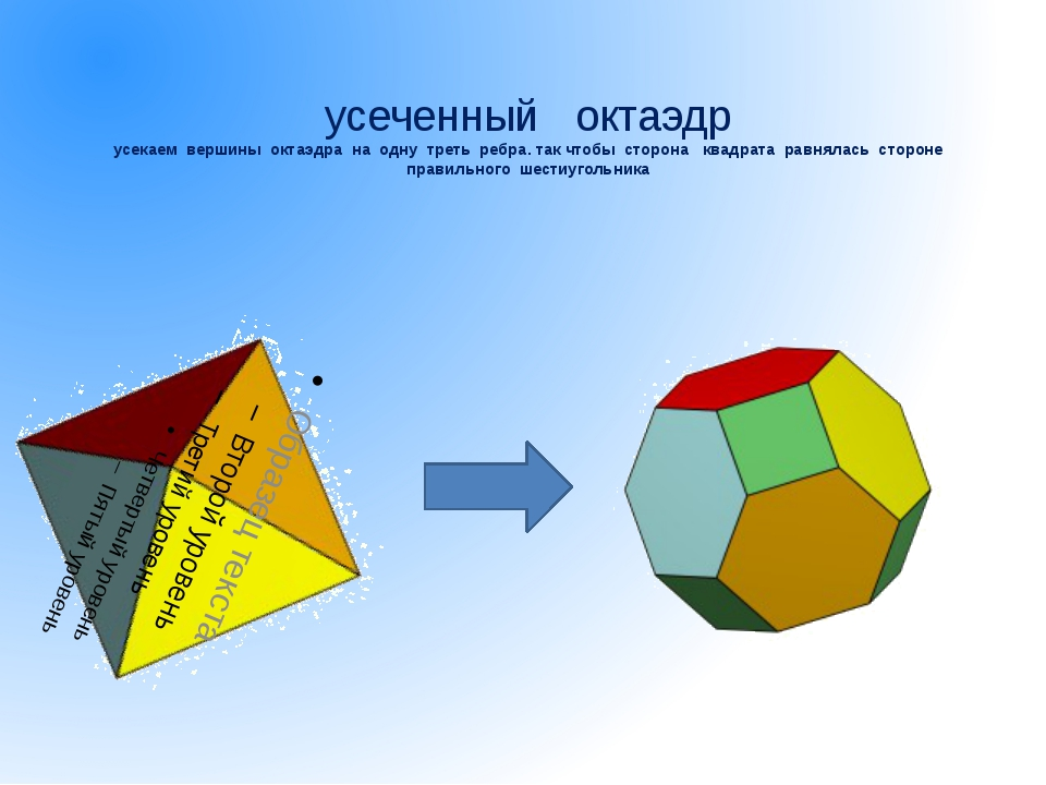икосододекаэдр усекаем вершины икосаэдра или додекаэдра на половину ребра