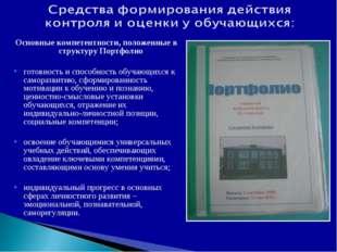 Основные компетентности, положенные в структуру Портфолио готовность и способ