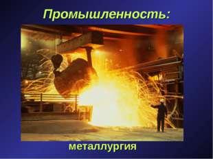 Промышленность: металлургия