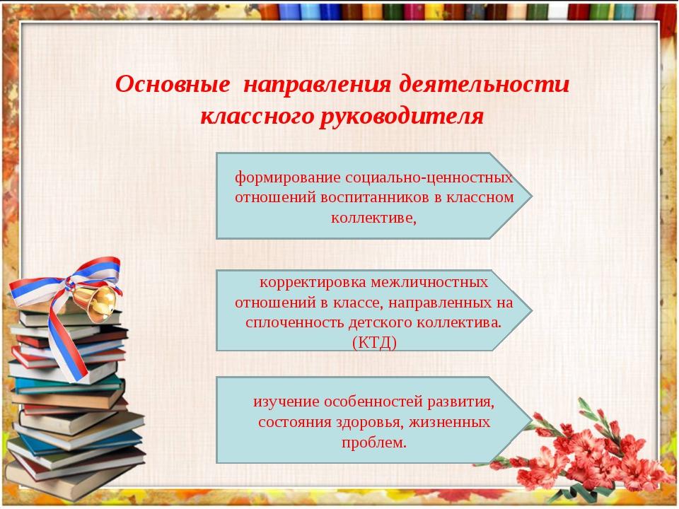 формирование социально-ценностных отношений воспитанников в классном коллекти...