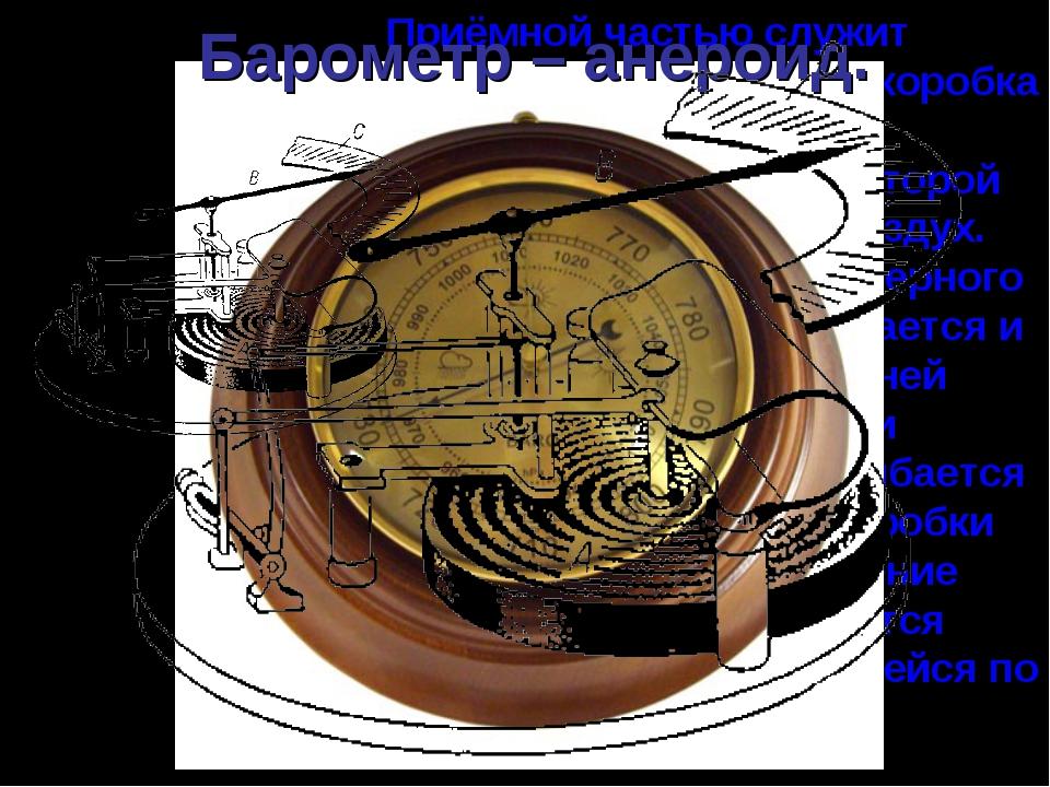 Приёмной частью служит круглая металлическая коробка А с гофрированными основ...