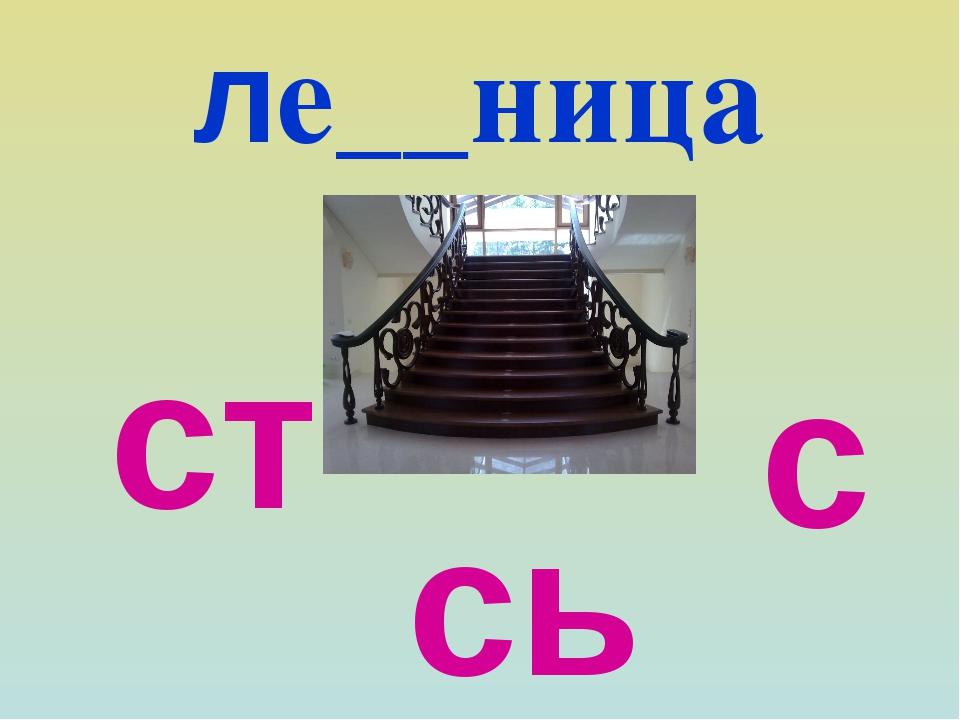 ле__ница ст сь с