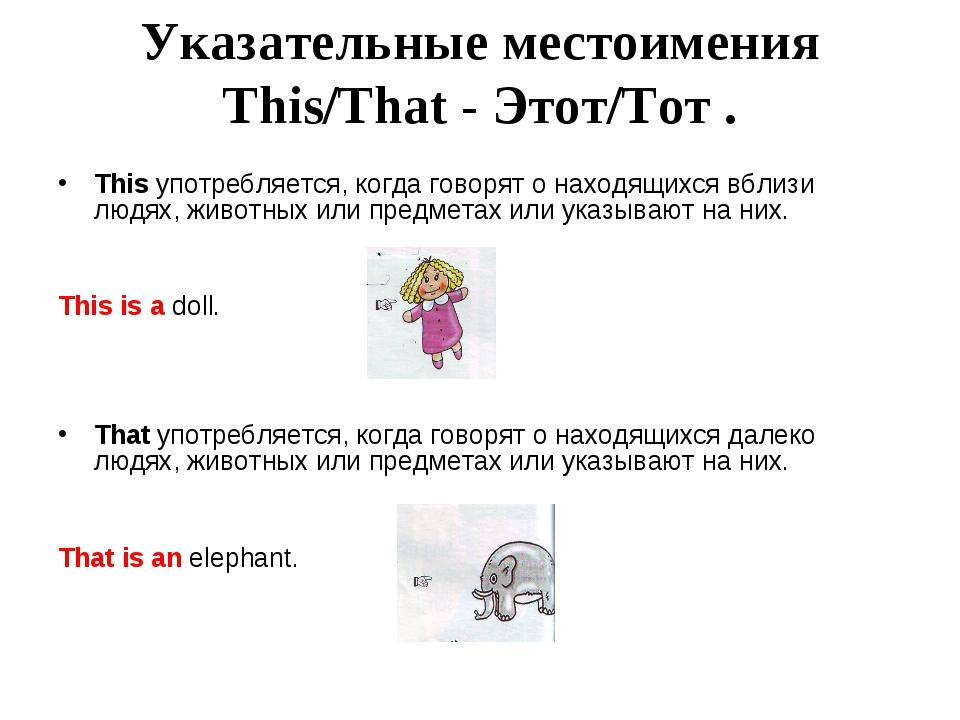 Английский язык Грамматика Местоимение Личные