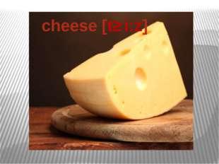 cheese [tʃ i:z]