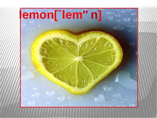 lemon[`lemən]
