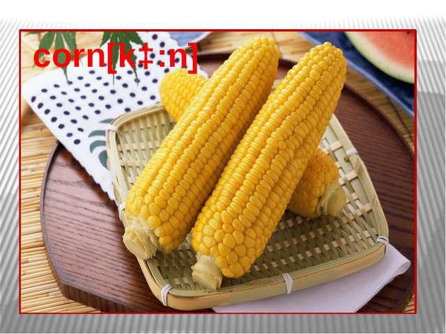 corn[kɔ:n]