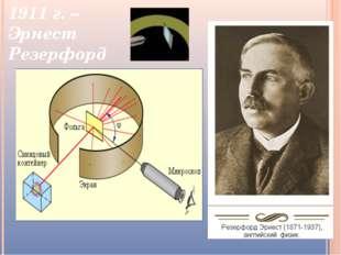 1911 г. – Эрнест Резерфорд