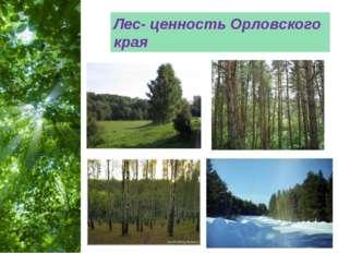 Лес- ценность Орловского края Free Powerpoint Templates Page *